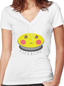 Piekachu! Women's Fitted V-Neck T-Shirt