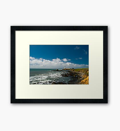 Rugged coast at Pigeon Point Light Framed Print