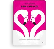 No142 My PINK FLAMINGOS minimal movie poster Canvas Print