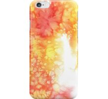 Red and yellow watercolor stain. iPhone Case/Skin