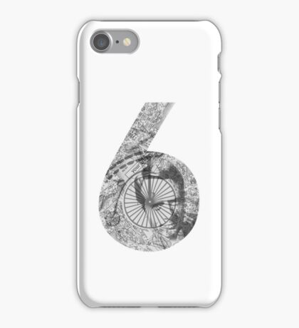 Number 6 - Gray Version. iPhone Case/Skin