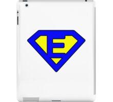 E letter iPad Case/Skin