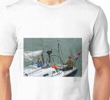 Close-up of Yacht Approaching Lymington  Unisex T-Shirt