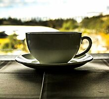 Green tea time at my balcony:) by Kornrawiee
