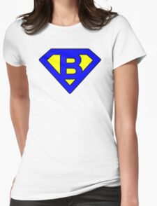 B letter Womens Fitted T-Shirt