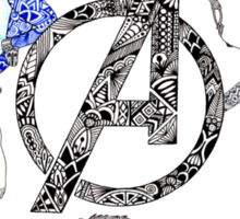 Avengers Age of Ultron Art Sticker