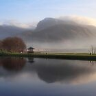 Ben Nevis from the Corpach Basin, Caledonian Canal, Scotland. by photosecosse /barbara jones