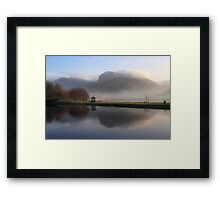 Ben Nevis from the Corpach Basin, Caledonian Canal, Scotland. Framed Print