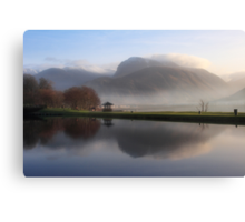 Ben Nevis from the Corpach Basin, Caledonian Canal, Scotland. Canvas Print