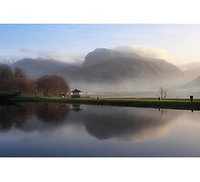 Ben Nevis from the Corpach Basin, Caledonian Canal, Scotland. Photographic Print