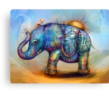magic rainbow elephant Canvas Print