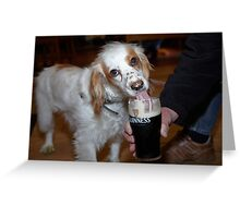 Maisie Likes Guinness  Greeting Card