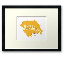 Tour de Yorkshire 2015 white Framed Print