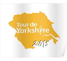 Tour de Yorkshire 2015 white Poster