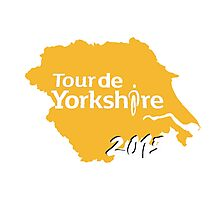 Tour de Yorkshire 2015 white Photographic Print