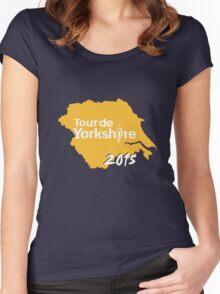 Tour de Yorkshire 2015 white Women's Fitted Scoop T-Shirt
