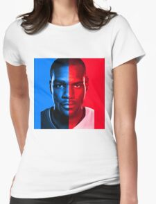 Kevin Durant LeBron James Face Off Mash Up T-Shirt Womens Fitted T-Shirt