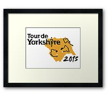 Tour de Yorkshire 2015 Route Framed Print