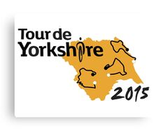 Tour de Yorkshire 2015 Route Canvas Print