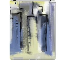City in Pastel Blues and Yellows iPad Case/Skin