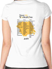 Tour de Yorkshire 2015 Tour - On back Women's Fitted Scoop T-Shirt