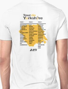 Tour de Yorkshire 2015 Tour - On back T-Shirt