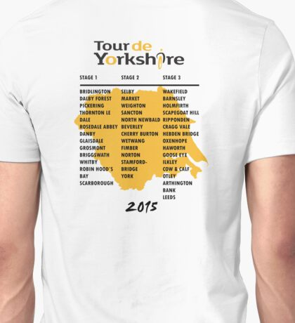 Tour de Yorkshire 2015 Tour - On back Unisex T-Shirt
