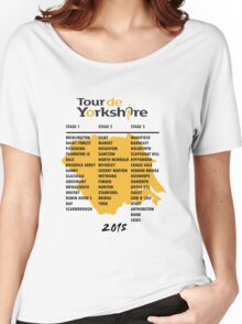 Tour de Yorkshire 2015 Tour Women's Relaxed Fit T-Shirt