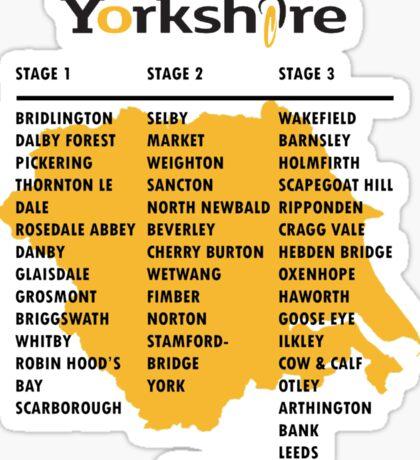 Tour de Yorkshire 2015 Tour Sticker
