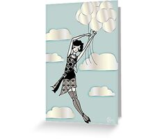 Floating Flapper Greeting Card