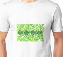 Teenage Mutant Ninja Turtles Zentangle Unisex T-Shirt