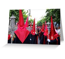 Penitents of Holly Thursday Greeting Card