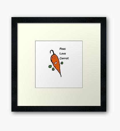 Peas Love Carrot Framed Print
