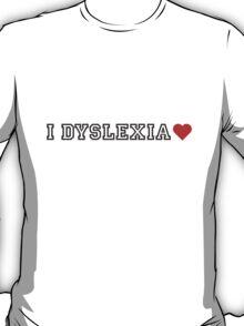 242 Dyslexia Heart T-Shirt