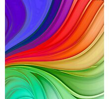 Abstract Rainbow Background Photographic Print