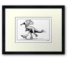 Parasaur wearing Pedspeeds Framed Print