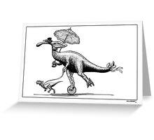 Parasaur wearing Pedspeeds Greeting Card
