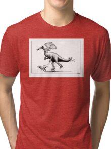 Parasaur wearing Pedspeeds Tri-blend T-Shirt