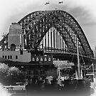 Sydney Harbour Bridge Retro by Malcolm Katon