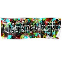 Abstract People in the Streets Poster