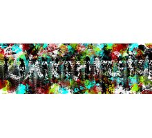 Abstract People in the Streets Photographic Print