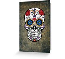 Skull Modern Art Greeting Card
