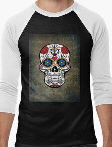 Skull Modern Art Men's Baseball ¾ T-Shirt