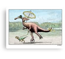 Parasaur wearing Pedspeeds Canvas Print