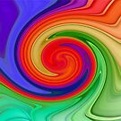 Ying Yang Rainbow Swirl Background by taiche