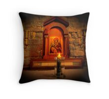 The Light at the Altar Throw Pillow