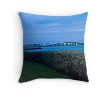 Sarastoa Bridge to Lido Key Throw Pillow