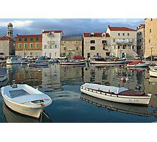 Kastel Novi harbour , Croatia Photographic Print
