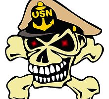 US Navy Chief Skull by xorbah