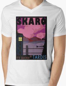 SKARO QUICKER BY TARDIS Mens V-Neck T-Shirt